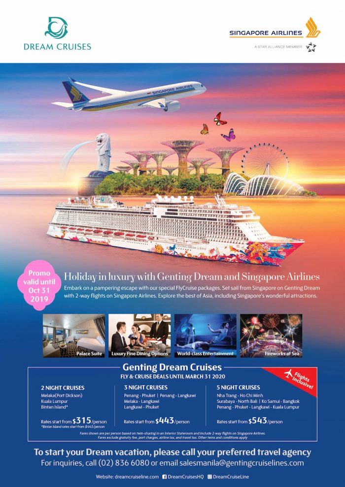 Holiday in Luxury with Genting Dream and Singapore Airlines