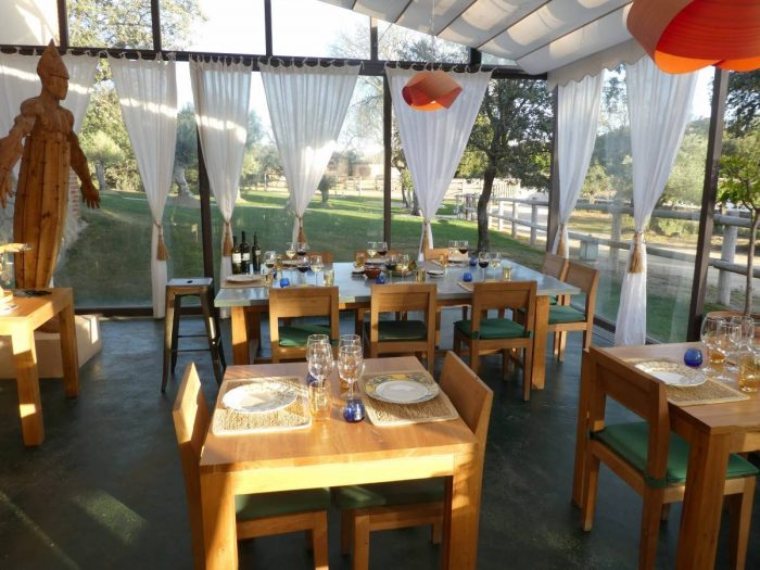 Lovely, almost alfresco, dining room at the second Zorita restaurant