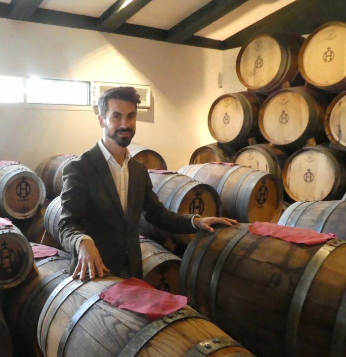 José Manuel explaining the aging process of Balsamic Vinegar