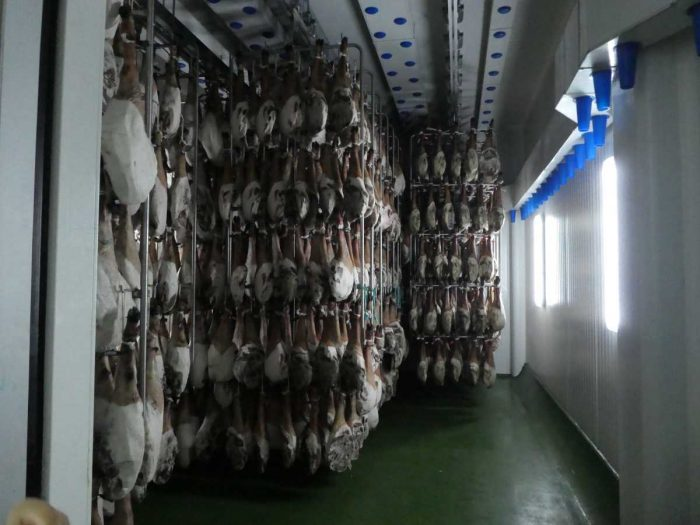 Aging the jamón can take up to five years