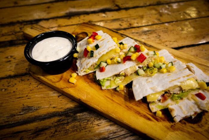 Chicken quesadillas - Php250