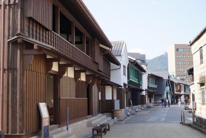 Dejima's historical structures