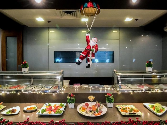 Enjoy Kitsho's Christmas buffet from 12noon til 4 in the afternoon