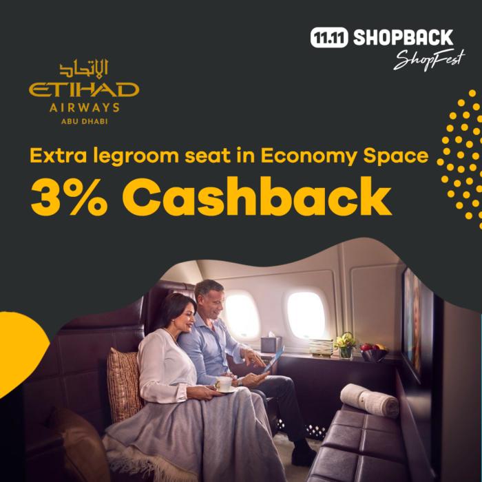 Get Cashback from Etihad Flights at ShopBack ShopFest PH