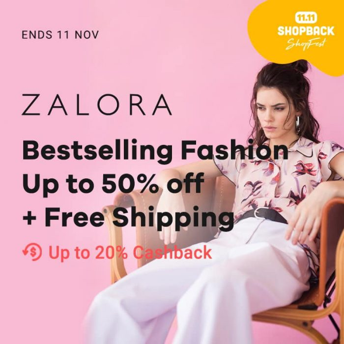 Get up to 20 percent Cashback on Zalora - Shopback Shopfest