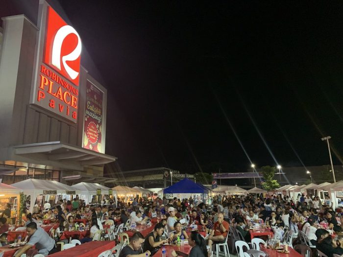 Heavily Crowded 2nd Ilonggo Night Market and Street Food Hawkers Festival