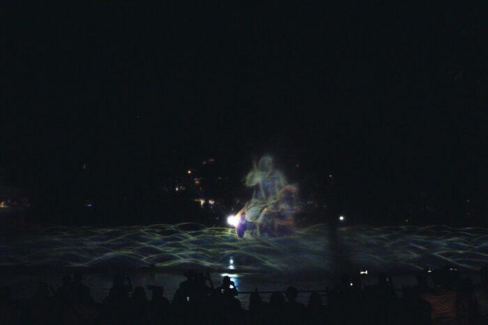 Interactive water show teamLab
