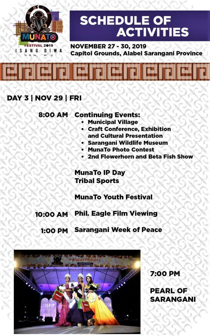 Munato Festival Schedule of Events