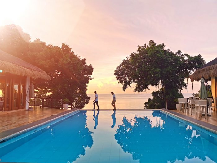Oceans Edge Infinity Pool Sunset