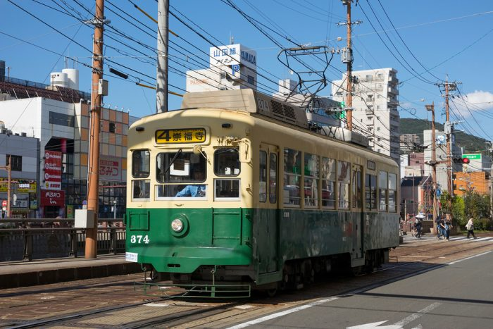 Retro Electric Streetcar - Nagasaki Travel Guide