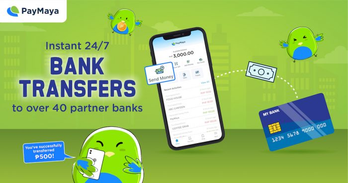 PayMaya's Send Money to Bank feature powered by InstaPay!