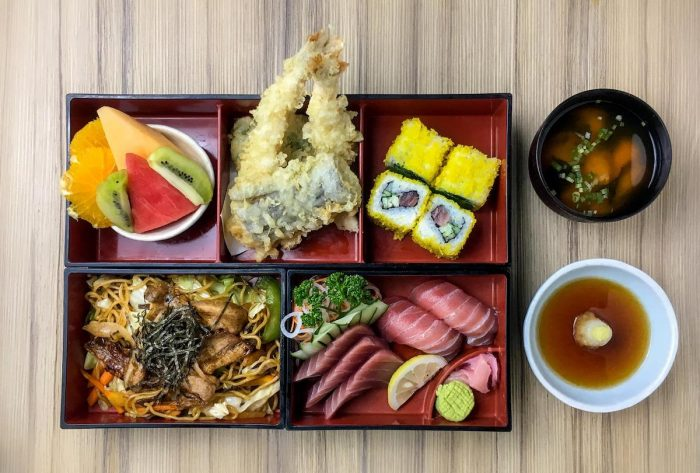 The Kitsho Special bento box is for lovers of shrimp tempura and yakisoba