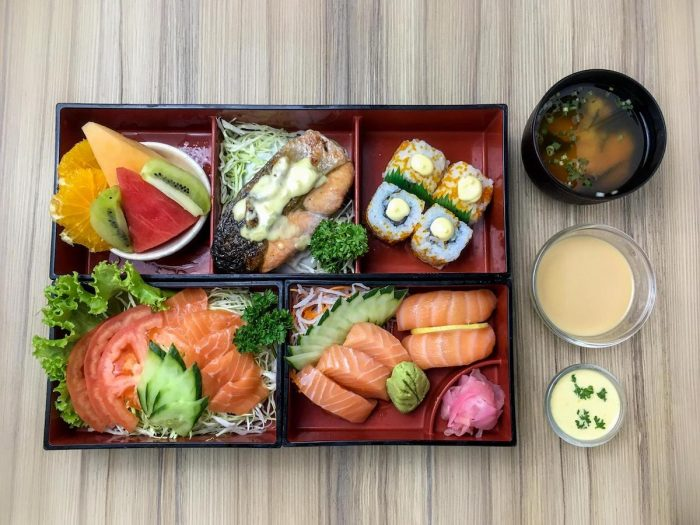 The Norwegian bento box is for those who particularly love salmon
