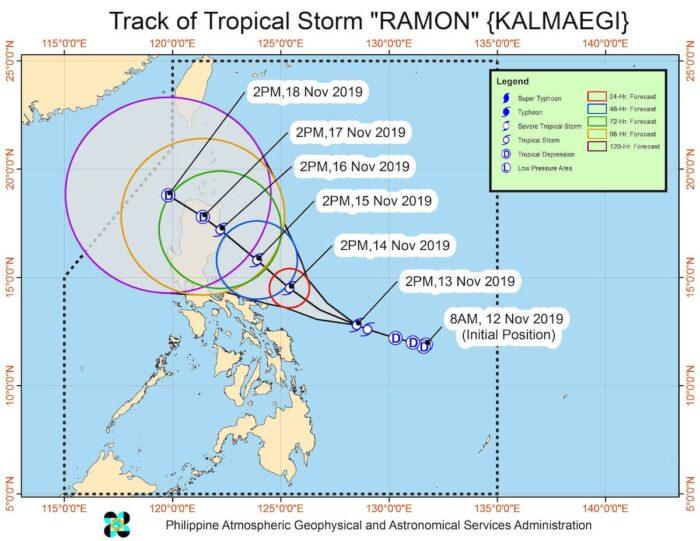 Tropical Storm Ramon Updates November 14 2019