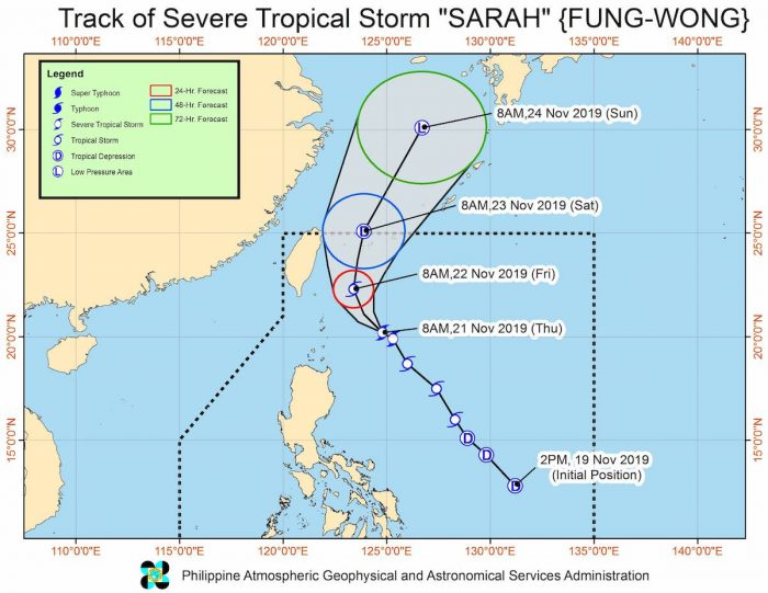 UPDATES ON Severe Tropical Storm SARAH
