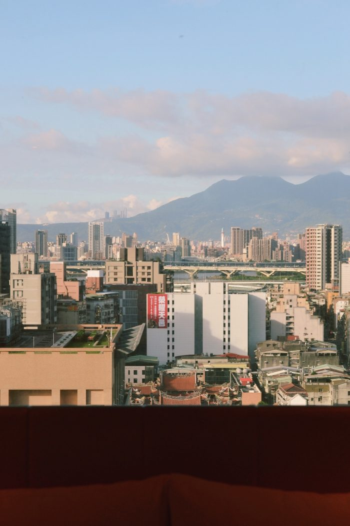 View from our window at Metro Caesar Taipei