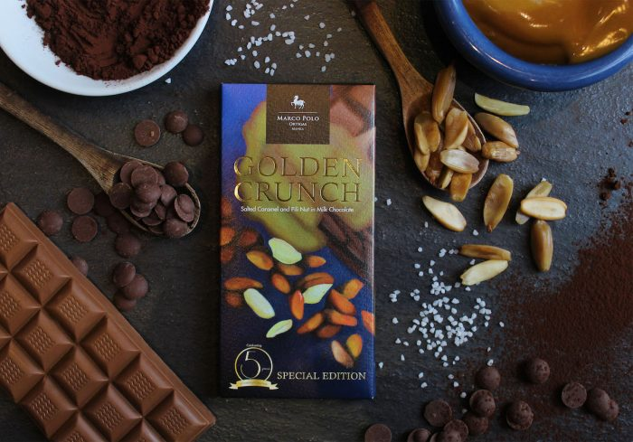 Golden Crunch Salted Caramel and Pili Nut in Milk Chocolate
