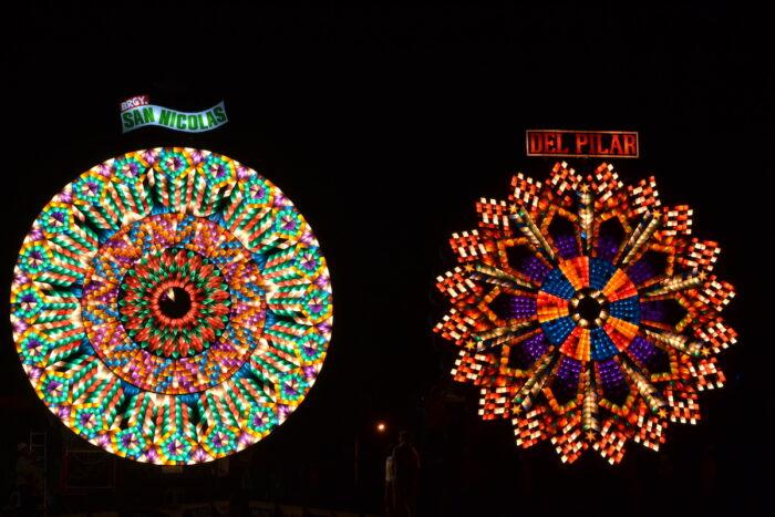 San Nicolas' and Del Pilar's giant lantern masterpieces