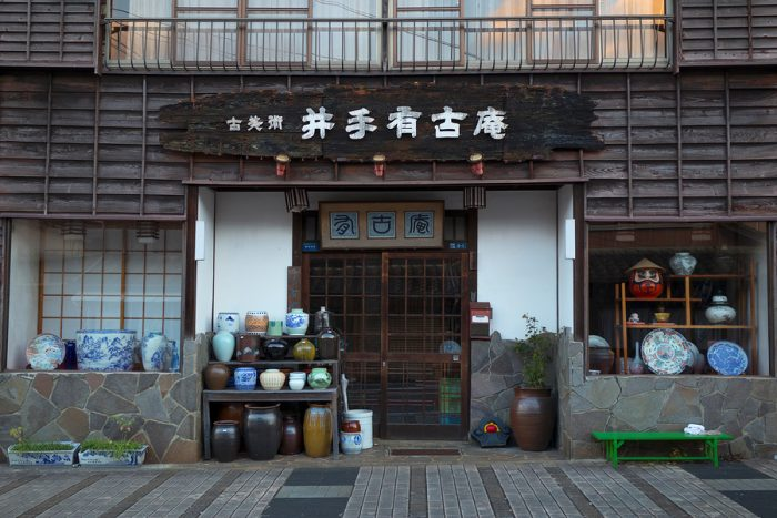 Shop with Arita ware, Japanese porcelain, made in the area around the city Arita