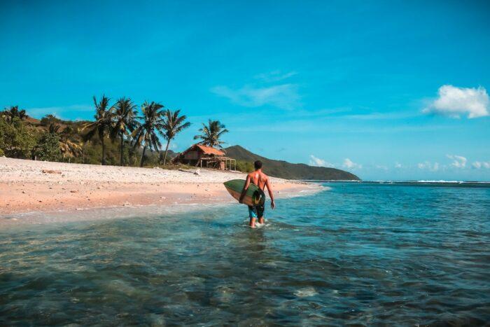 Surfing in Lombok Indonesia photo by @jeremybishop via Unsplash