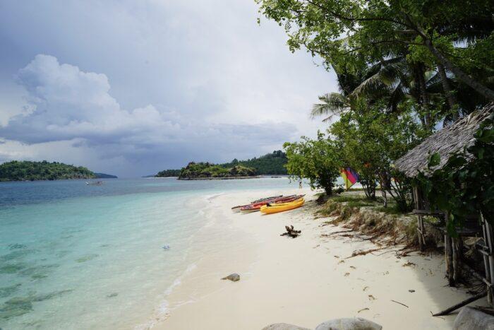 White sand beach in Zamboanga City