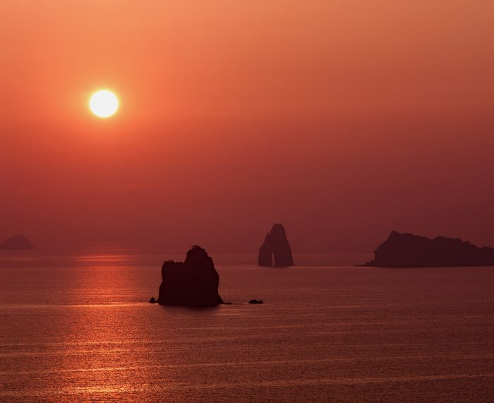 sunset at Sotome area