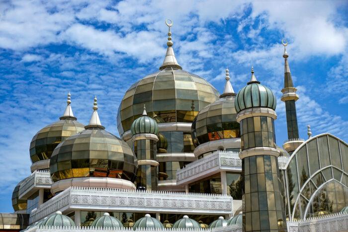Crystal mosque in Kuala Terengganu, Malaysia photo via Depositphotos