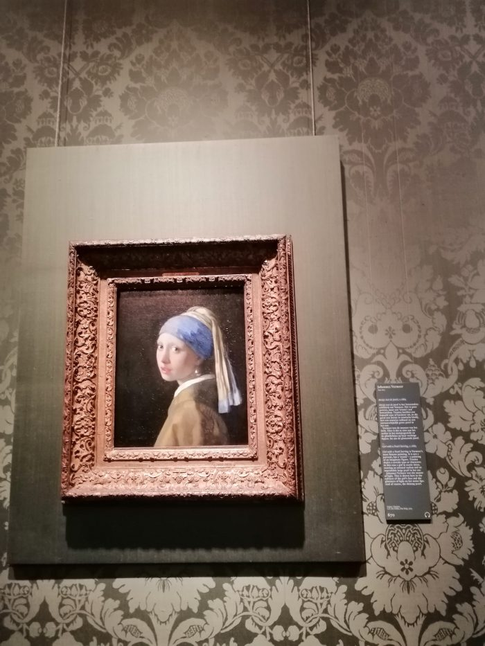 Vermeer's Girl With The Pearl Earring as seen in The Mauritshuis