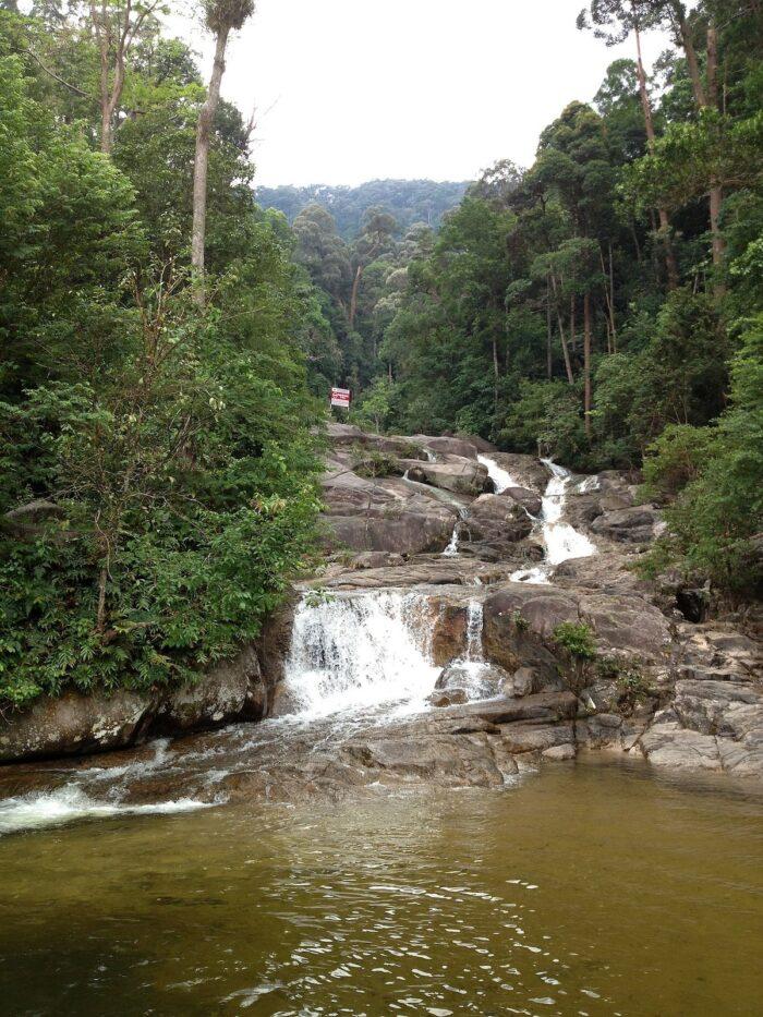 Waterfall on Gunung Ledang photo by Katangais via Wikipedia CC