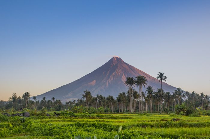 View of Mayon Volcano from Bicol International Airport