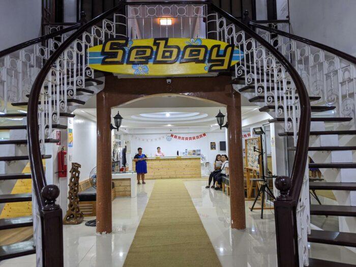 Reception area of Sebay Surf Central