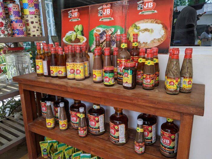 The many kinds of bagoong and patis you can buy at JB Bernal Bagoong Factory