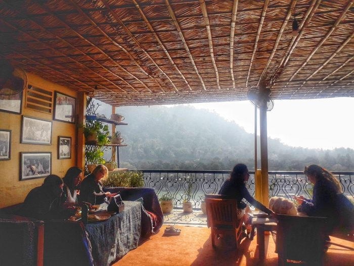 Diners can enjoy a good meal and the view of the Ganges at the Beatles Cafe