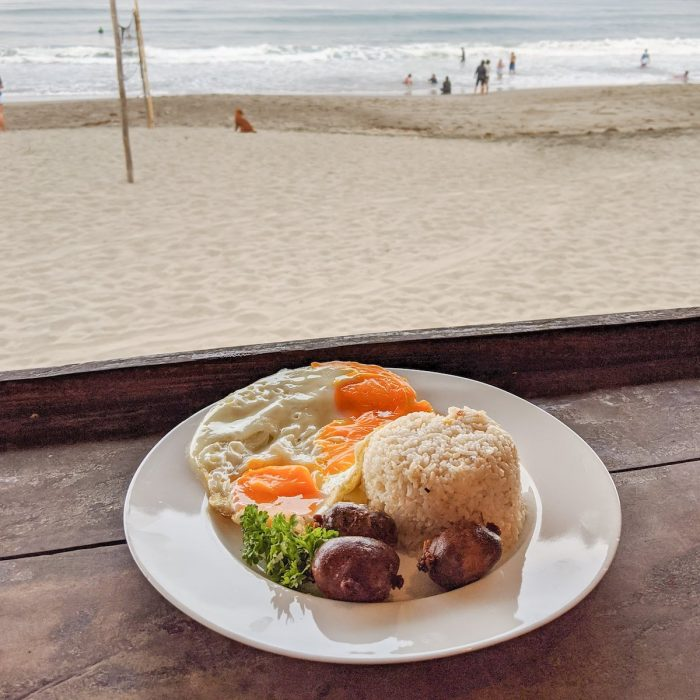 Breakfast with a view at Sebay Surf Central