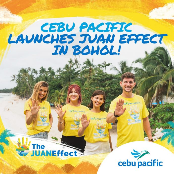Cebu Pacific partnered with global ambassadors for the launch of its Juan Effect Sustainable Tourism Program in Bohol.