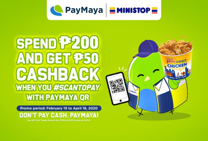 Get quick treats and sweet deals when you use PayMaya QR at Ministop