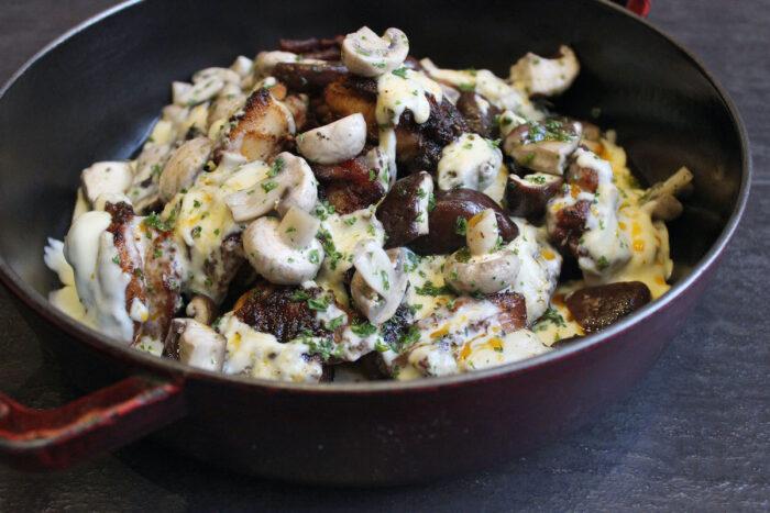 Marinated Roast Chicken with White Herb Sauce