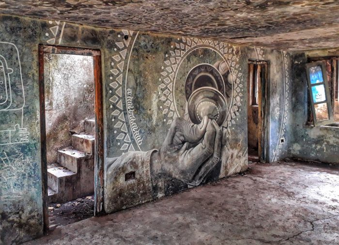 Mural in Beatles Ashram