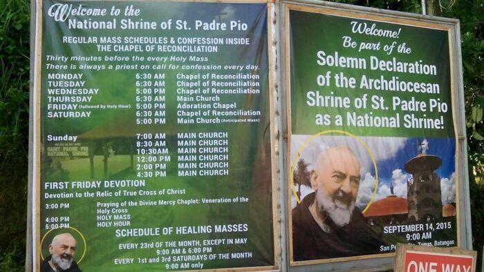 National Shrine of Saint Padre Pio Mass Schedule