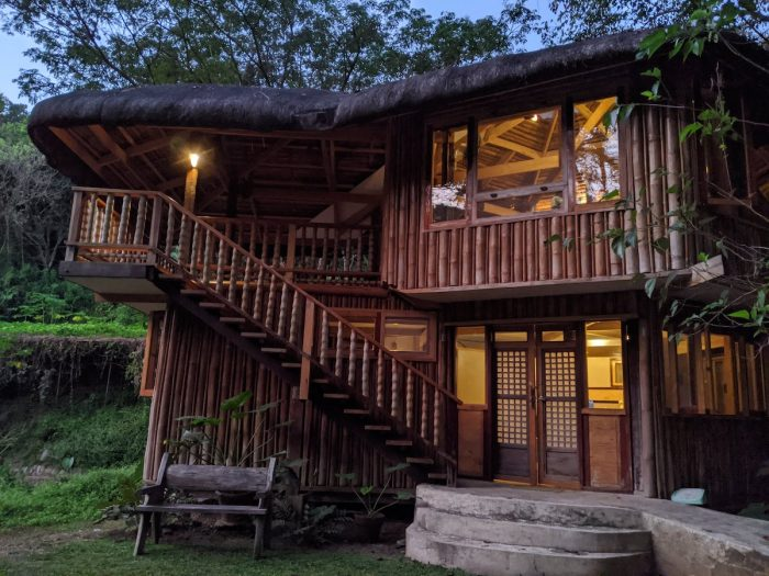 One of two modern bahay kubo in Lotus Valley Farm