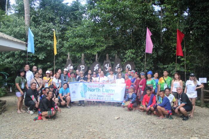 PHILTOA delegation at Lussok Visitors Center in Luna Apayao