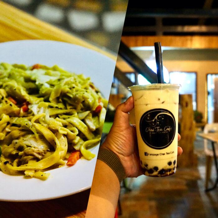Pancit Sibuyan and Bubble Tea at Chai Tea Cafe Bubble Tea House