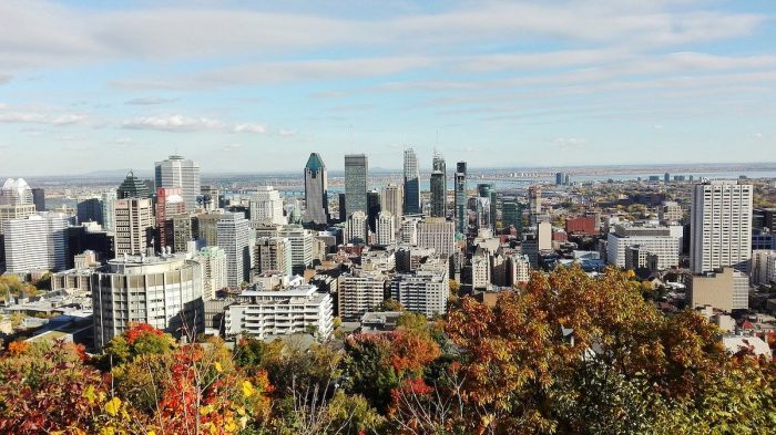 View from Mount Royal in Quebec
