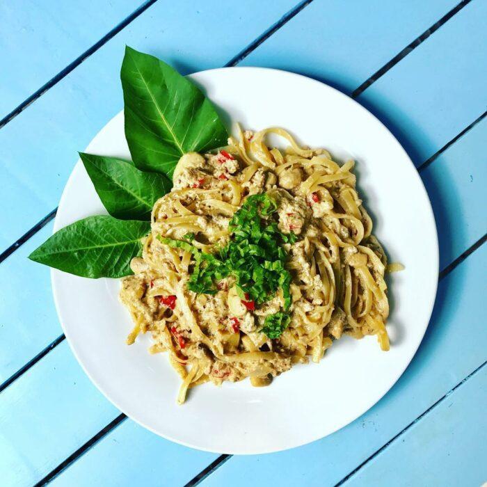 creamy mushroom pasta photo via Mabuti Eat & Chill FB