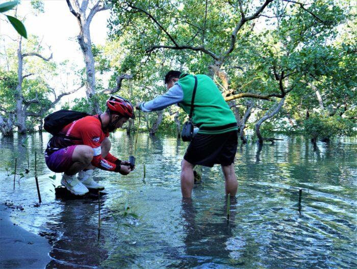 Bikers plant mangroves at Sarangani Bay