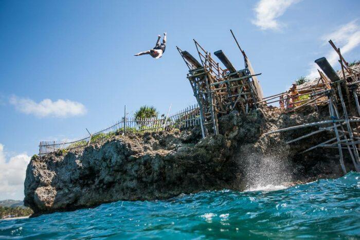 Cliff Jumping in Boracay photo via DOT