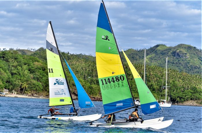 Hobie cats in action in Sibuyan, Romblon