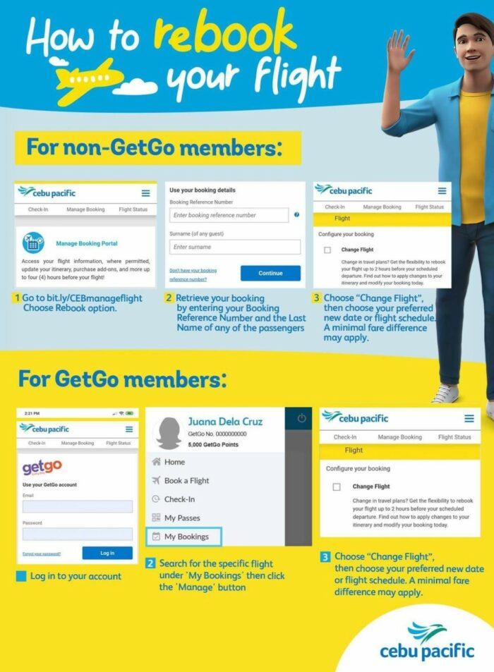 How to Rebook Cebu Pacific Flight