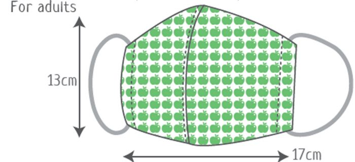 Mask Size for Adult - face mask pattern