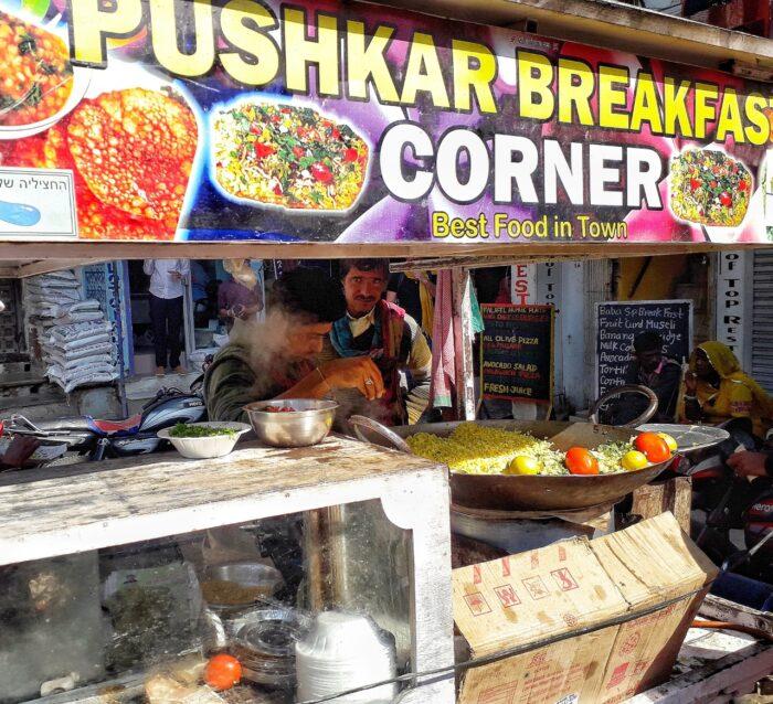 The popular Pushkar Breakfast corner stall